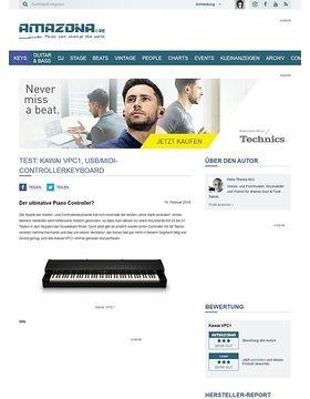 Test: Kawai VPC1, USB/MIDI-Controllerkeyboard