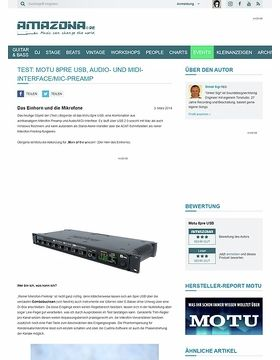 Test: Motu 8pre USB, Audio- und MIDI-Interface/Mic-PreAmp