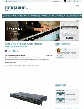Test: Motu 8pre USB, Audio- und MIDI-Interface/Mic-PreAmp