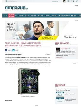 Test: Electro Harmonix Superego, Effektpedal für Gitarre und Bass