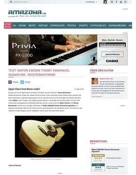 Test: Maton EBG808 Tommy Emmanuel Signature, Westerngitarre