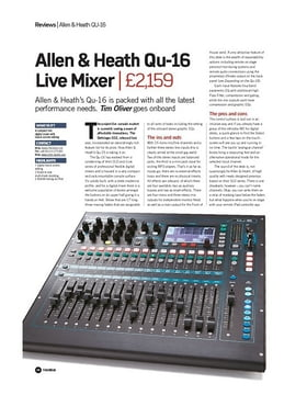 Allen & Heath Qu-16 Live Mixer