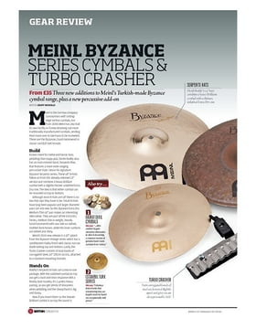 Meinl Byzance Series Cymbals and Turbo Crasher