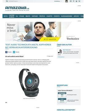 Test: Audio Technica ATH-ANC70, Kopfhörer mit Geräuschunterdrückung