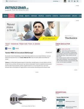 Test: Yamaha TRBX 505 TWH, E-Bass