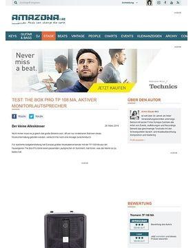 Test: The Box pro TP 108 MA, aktiver Monitorlautsprecher