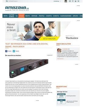 Special: Behringer X32 Core und S16 Digital Snake, Digitaler Rack Mixer