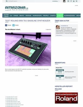 Test: Roland Aira TB-3, Bass Synthesizer & Groovebox