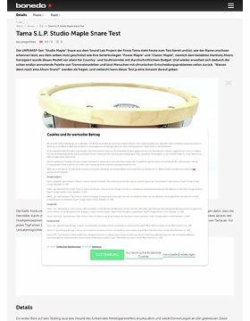 """Tama 14"""" x 6,5"""" S.L.P. LMP1465F-SEN Studio Maple Snare"""