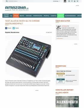 Special: Allen&Heath Qu-16, AR2412, ME-1, Digital Mixer