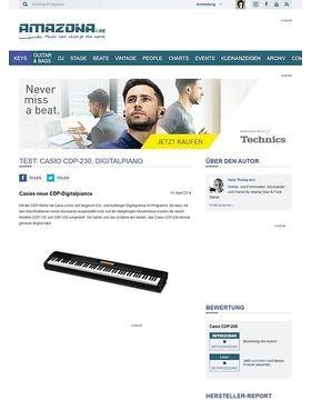 Test: Casio CDP-230, Digitalpiano