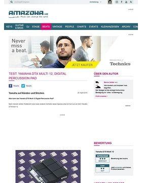 Test: Yamaha DTX Multi 12, Digital Percussion Pad