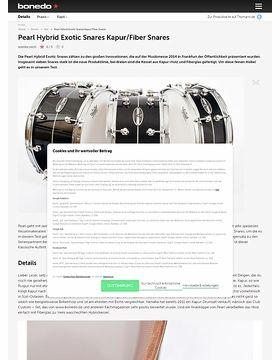 Pearl Hybrid Exotic Snares Kapur/Fiber Snares