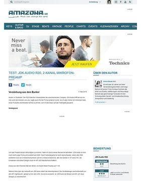 Test: JDK Audio R20, 2-Kanal Mikrofon-Preamp