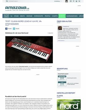 Test: Clavia Nord Lead A1 & A1R, Synthesizer