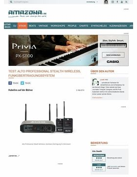 Test: Alto Professional Stealth Wireless, Funkübertragungssystem