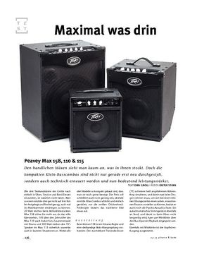 Peavey Max 158, 110 & 115, Bass-Combos