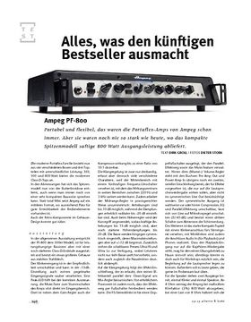 Ampeg PF-800, Bass-Head
