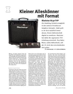 Blackstar  ID:30 TVP, Modeling-Amp