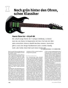 Ibanez Steve Vai UV70P-BK, E-Gitarre