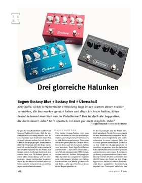 Bogner Ecstasy Blue, Red & Überschall, Distortion-Pedale