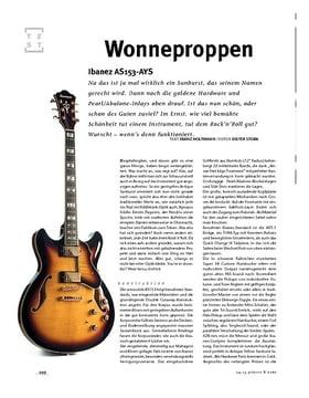 Ibanez AS153-AYS, Semiakustik-E-Gitarre