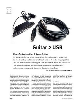 Alesis GuitarLink Plus & AcousticLink, Interface-Kabel