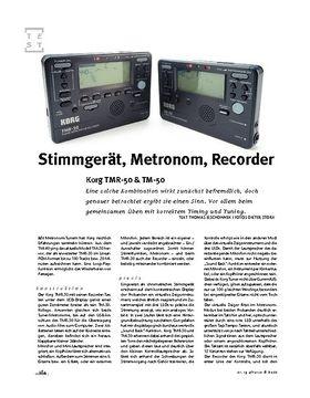 Korg  TMR-50 & TM-50, Tuner/Recorder