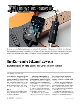 IK Multimedia iRig HD/Stomp/Pre - Input-Devices für iOS-Geräte