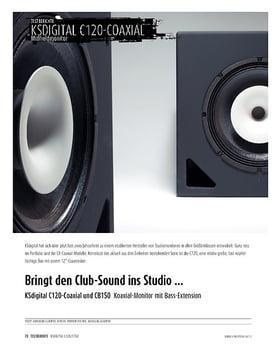 KSdigital C120-Coaxial und CB150 - Koaxial-Monitor mit Bass-Extension