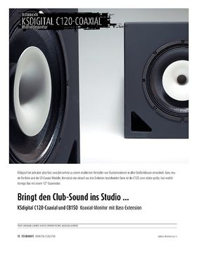 KSdigital C120-Coaxial und CB150 - Koaxial-Monitor mit Bass-Extension