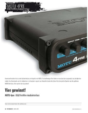 MOTU 4pre - Audiointerface