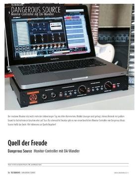 Dangerous Music Source - Monitor-Controller mit DA-Wandlern