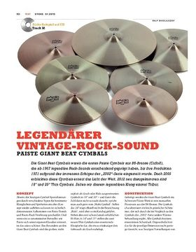 Paiste Giant Beat Cymbals
