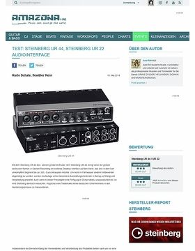 Test: Steinberg UR 44, Steinberg UR 22, Audiointerface