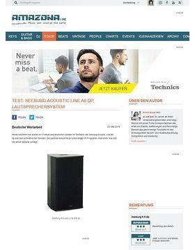 Test: Seeburg Acoustic Line A6 dp, Lautsprechersystem