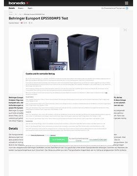 Behringer Europort EPS500MP3