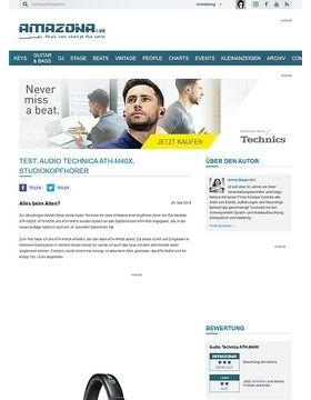 Test: Audio Technica ATH-M40X, Studiokopfhörer