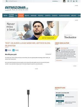 Test: HK Audio Lucas Nano 600, aktives Klein-PA System