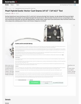 """Pearl Hybrid Exotic Vector Cast Snares 14"""" x 5"""" und 14"""" x 6,5"""""""