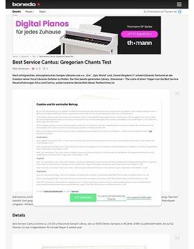 Best Service Cantus: Gregorian Chants
