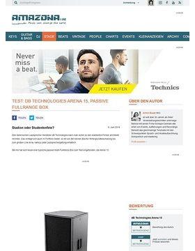 Test: dB Technologies Arena 15, passive Fullrange Box