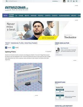 Test: Yamaha P-255, Digitalpiano
