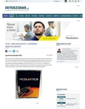 Test: Vir2 acou6tics, Gitarren-Samplelibrary