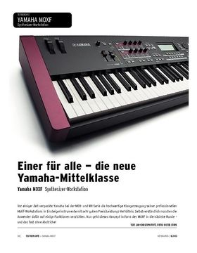 Yamaha MOXF - Synthesizer-Workstation