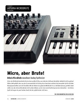Arturia MicroBrute - monofoner Analog-Synthesizer
