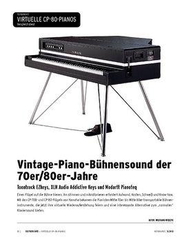 Electric Grandpianos im Vergleich - Toontrack EZkeys, XLN Audio Addictive Keys, Modartt Pianoteq