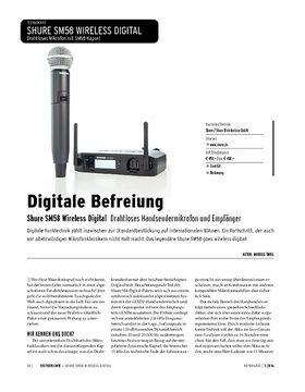 Shure SM58 Wireless Digital - Drahtloses Handsendermikrofon und Empfänger