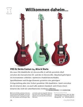 PRS S2 Series Custom 24, Mira & Starla, E-Gitarren
