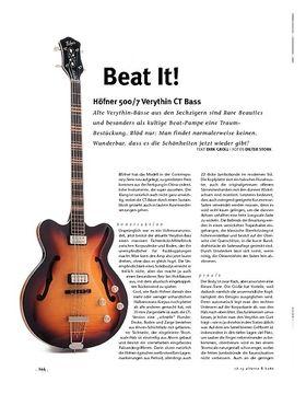 Höfner 500/7 Verythin CT Bass, E-Bass